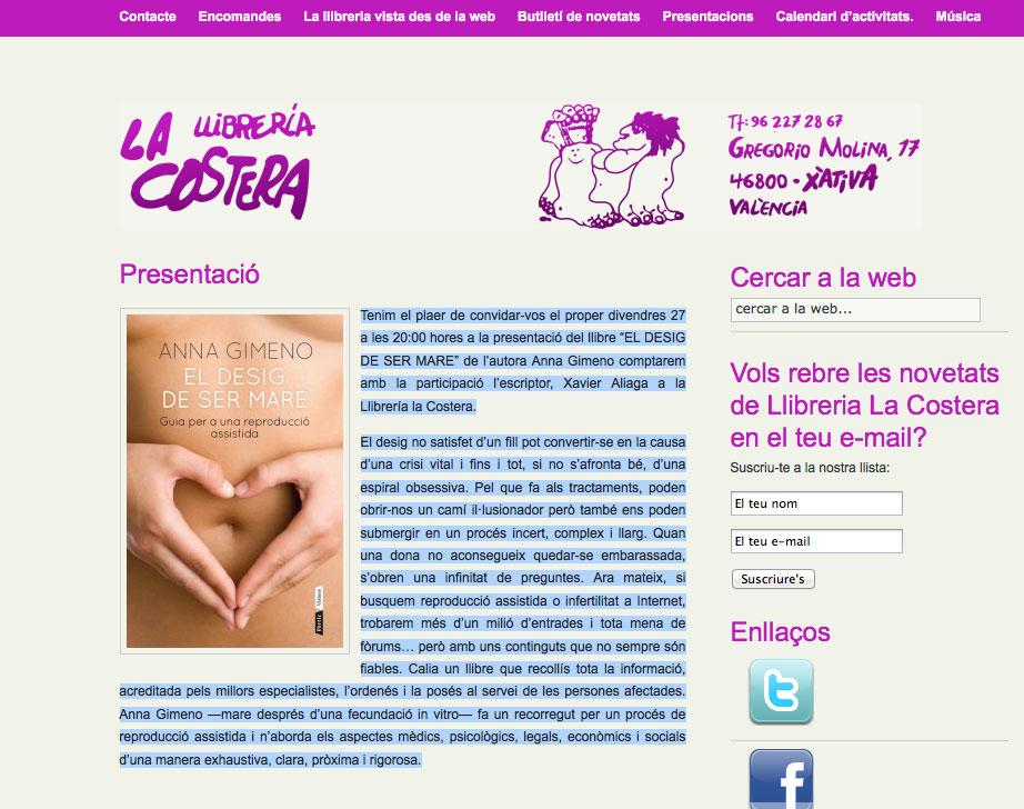 presentaciolacostera